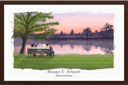Always and forever art brown frame